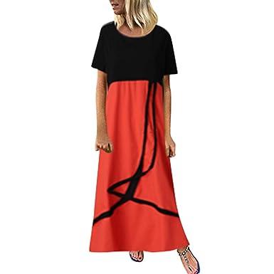 Vestido Largo con Cinta Mujer Vestido de Fiesta Casual de ...