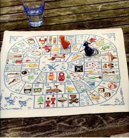 Monopoly Games - Juego de punto de cruz (algodón egipcio, 14 hilos, 200 x 200 puntadas, 46 x 46 cm), diseño de monopolio: Amazon.es: Hogar
