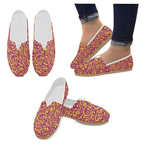 Interestprint Mujeres Loafers Clásico Casual Slip On Zapatos De Moda Sneakers Flats Multi 1