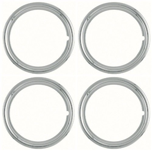 Set of 4 Polished Stainless Steel 14