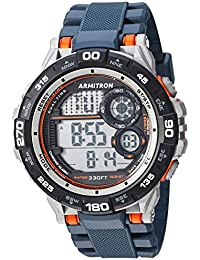 Men's 40/8441NVY Orange Accented Digital Chronograph Navy Blue Resin Strap Watch