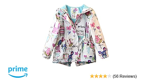 7acbb1aa58ee Amazon.com  Kids Baby Toddler Girls Spring Fall Cartoon Trench Coat ...