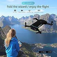 Leewa@ Foldable Portable Mini 2.4G 6Axis 0.3MP HD Camera WIFI FPV RC Quadcopter Selfie Drone -APP Control