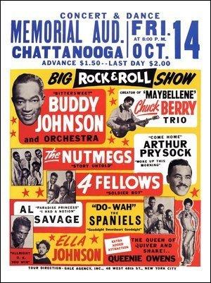 amazon buddy johnson chuck berry rock n roll poster 1950s
