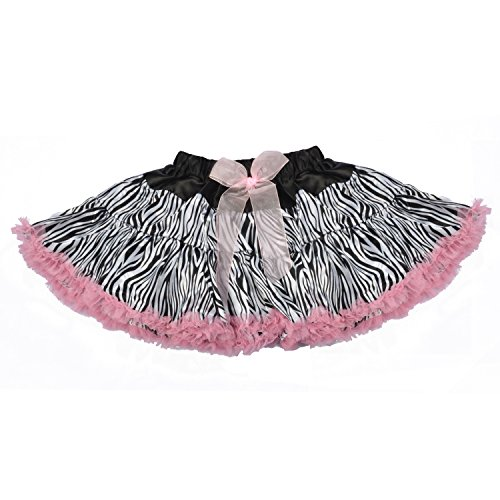 Girls Rhinestone Mouse Zebra Animal Print Sparkle Neon Tutu Skirt Set Baby Kids