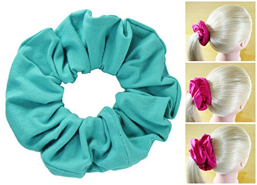 Premium Cotton Scrunchies Soft T-Shirt Knit 3 Sizes Many Colors Scrunchie King Made in - Premium Jersey