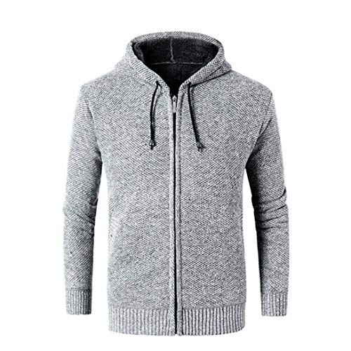 Amazon.com: Sunhusing Mens Autumn Winter Solid Color Hooded Sweater Casual Jacket Cardigan Blouse Top: Clothing