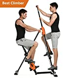 Tomasar Vertical Climber Machine Folding Step Climber Exercise Machine for Home Gym Fitness Workout Stair Cardio [US STOCK]