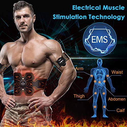 Donna Elettrostimolatore Modalità 10 Professionale Uomo Corpo Frequenza Cintura includere Massaggio Con Cinture Pad Per Corrente 6 Stimolatore A Ems E tion Gel Addominali Massaggianti Muscolare Livelli xP8OEIwzIq