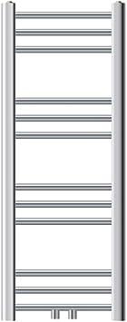 Radiador de pared Dise/ño recto Radiador calentador y secador de toallas Radiador calefactor de ba/ño 600 x 750 mm No el/éctrico ECD Germany Radiador toallero de ba/ño DHK Towel Cromado