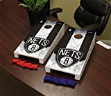 Victory Tailgate Brooklyn BKN Nets NBA Desktop Mini Cornhole Game Set
