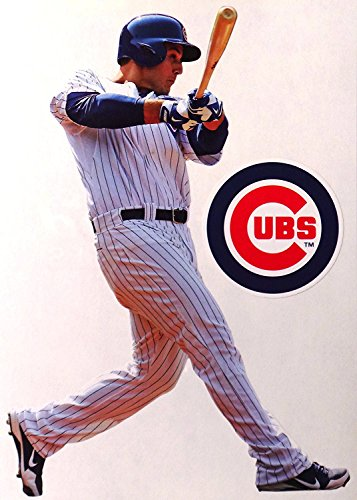 Anthony Rizzo Mini FATHEAD Chicago Cubs Logo Official MLB Vinyl Wall Graphics 7