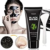 Blackhead Remover Charcoal Peel Off Black Mask with Brush Kit for Whitehead Pore Acne Hair