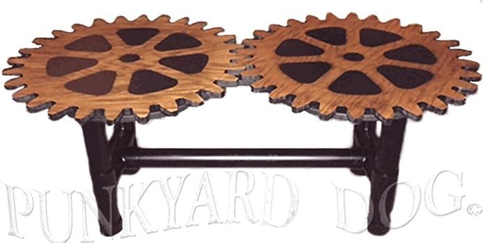 Gear Coffee Table   Industrial Steampunk Style
