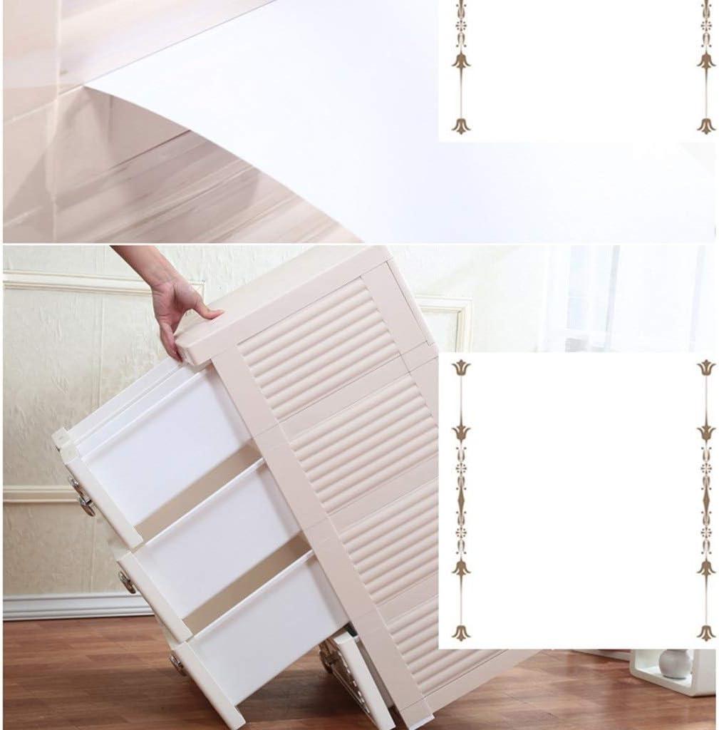 Gabinete de almacenamiento de cajones, armario acolchado de plástico, armario de bebé con cajonera con cerradura, armarios plegables, armario de cubo organizador de almacenamiento ideal 50 * 40 * 102: Amazon.es: Bricolaje y herramientas