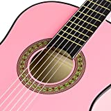 Music Alley MA-34-PNK Acoustic Beginner Guitar