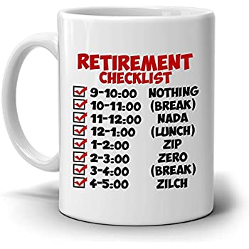 Amazon funny retirement gift checklist coffee mug perfect funny retirement gift checklist coffee mug perfect humor present ideas for coworker party invitations thecheapjerseys Image collections