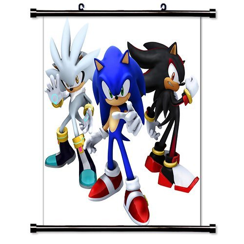 Sonic The Hedgehog Game Fabric Wall Scroll Poster  Inches