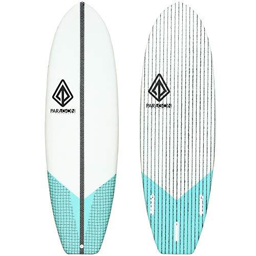"Paragon Surfboards Groveler Hybrid Surfboard | Fun & Easy to Ride Performance Surf Board | Unique Epoxy Fiberglass | 5'10"" | 6'0″ | 6'2″|"