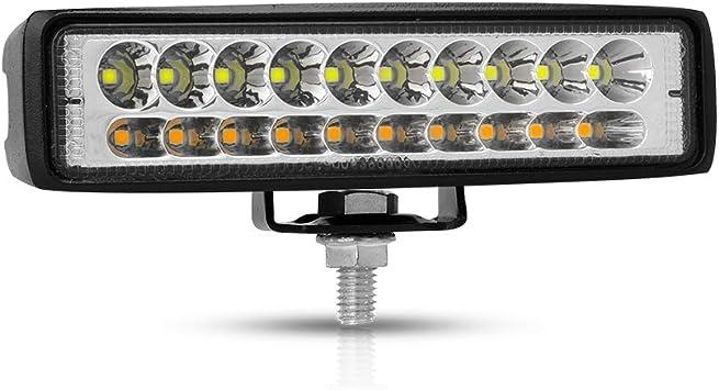 2 Jahre Garantie YEEGO LED Lichtleiste 2 ST/ÜCKE 6 Zoll Spot LED Arbeitslicht 54W 5400LM LED Licht Pods Off Road Lights Nebelscheinwerfer mit Bernstein und Wei/ß zweifarbig