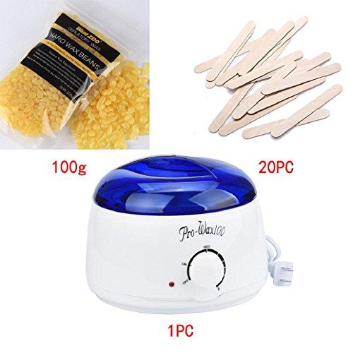 2017 Hot Sale Epilator Hair Removal Set!Elevin(TM)Hair Removal Bean Wiping Sticks Hot Wax Warmer Heater Machine Pot Depilatory Set (F)