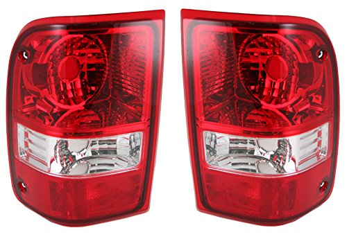Taillights Taillamps Rear Brake Lights Pair Set for 06-11 Ford Ranger Pickup