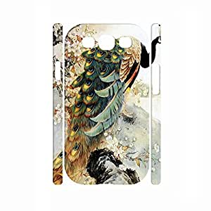 Beautiful Chinese Style Peacock Anti Proof Hard Plastic Samsung Galaxy S3 Case Skin for Girls
