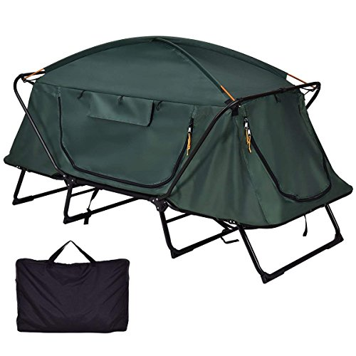 (Tangkula Tent Cot Folding Waterproof 1 Person Hiking Camping Tent with Carry Bag)