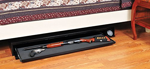 """Stealth Defense Vault DV652 Under Bed Gun Safe + Free 52"""" Dean Safe Rifle Sock"""