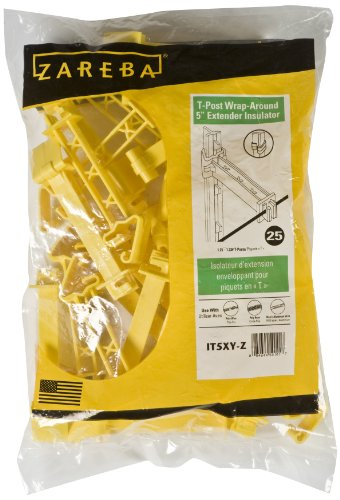 - Zareba IT5XY-Z Snap-on 5-Inch Extender Insulator, Yellow, 25 per Bag