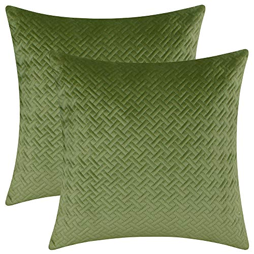 Green Velvet Cushion Set - 5