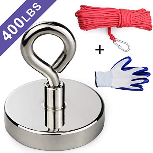 Amazon.com: Super Strong Neodymium Fishing Magnet, 400 lbs ...