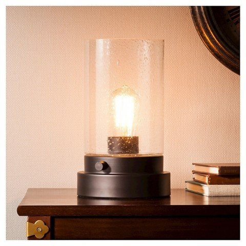 Hudson Industrial Uplight - Ebony (Includes CFL Bulb) - ThresholdTM by Ebony B01BUL7ZOG