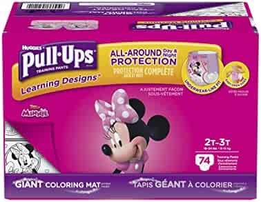 Pull-Ups Learning Designs Potty Training Pants for Girls, 2T-3T (18-34 lb.), 74 Ct. (Packaging May Vary)