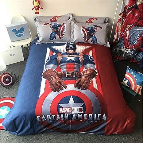3D Marvel Captain America Bedding for Kids