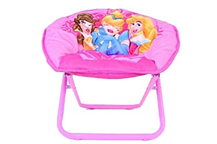 Merveilleux Disney Princesses Pink Folding Mini Saucer Chair