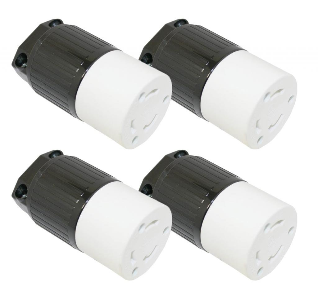 Superior Electric (4 Pack) YGA024F 30 Amps, 125V, NEMA L5-30R Twist Lock Heavy-Duty 3-Wire Replacement Electrical Receptacle # YGA024F-4pk