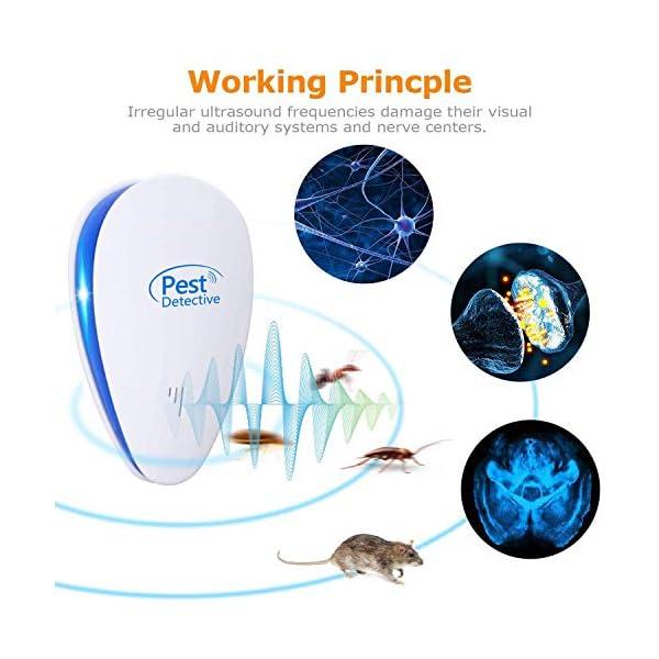 Repellente Ultrasuoni,Pest Control Repeller Plug in Uso Interno, Miglior Disinfestatore per Insetti, Topi Insetti… 3 spesavip