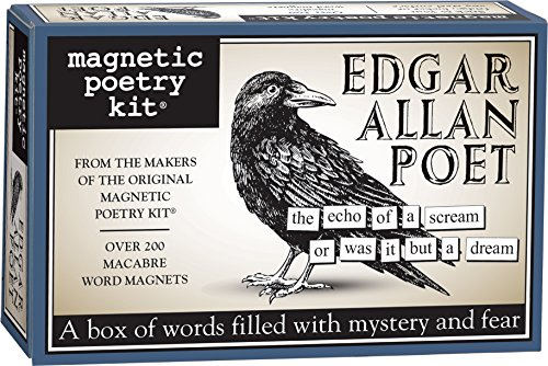 - Magnetic Poetry - Edgar Allan Poet Kit - Words for Refrigerator - Write Poems and Letters on The Fridge - Made in The USA