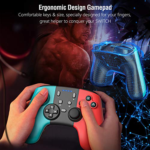 Gamory Wireless Controller for Nintendo Switch, Bluetooth Wireless Pro Controller for Nintendo Switch, Controller Gamepad with Adjustable Turbo Dual Shock Gyro Axi