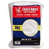 Eagle Rags Bar Rags All-purpose Bar Mop Towels, Cotton, Premium Grade for Commercial and Home Use - 24-pack - White (14'' X 17'') (24 pcs)