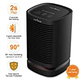 KEYNICE Space Heater Small Electric Heaters Indoor Portable 950W Personal Ceramic Heater Oscillating Overheat and Tip-Over Protection Quick Heat for Home Office Bathroom