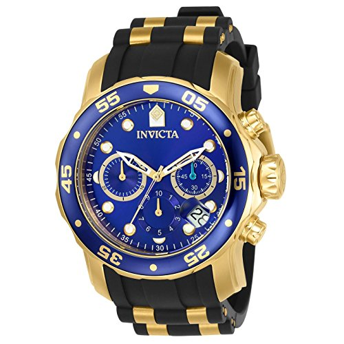 (Invicta Men's 17882 Pro Diver 18k Gold Ion-Plated Stainless Steel Watch)