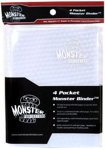 Monster Protectors Card Supplies 4-Pocket White Holofoil Mini Binder