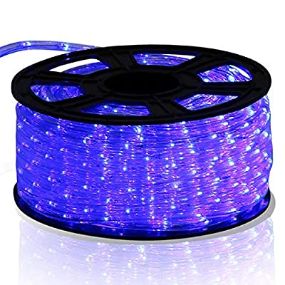 Wowdeal 150Ft 2 Wire LED Rope Light String Fairy Lights Strip Tape Christmas Xmas Party