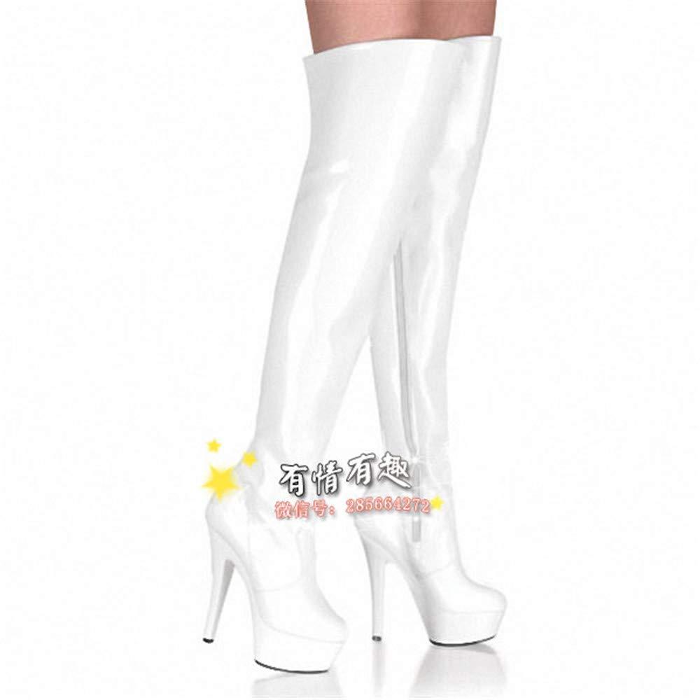 XLLQYY Mode matt Knie Stiefel Night - Club - Tanz 15cm super - high - Heels und high Heels.
