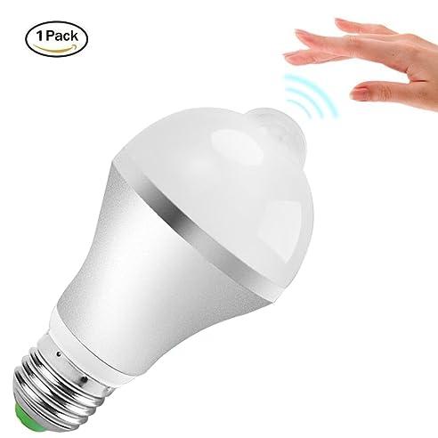 LED Lampen mit Bewegungsmelder Minger E27 9W Kaltweiß LED Birnen ...
