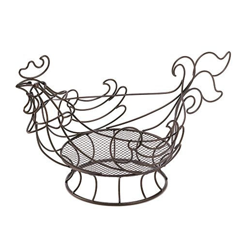 VERDUGO GIFT CO Country Rooster Basket (Copper Hanging Baskets)