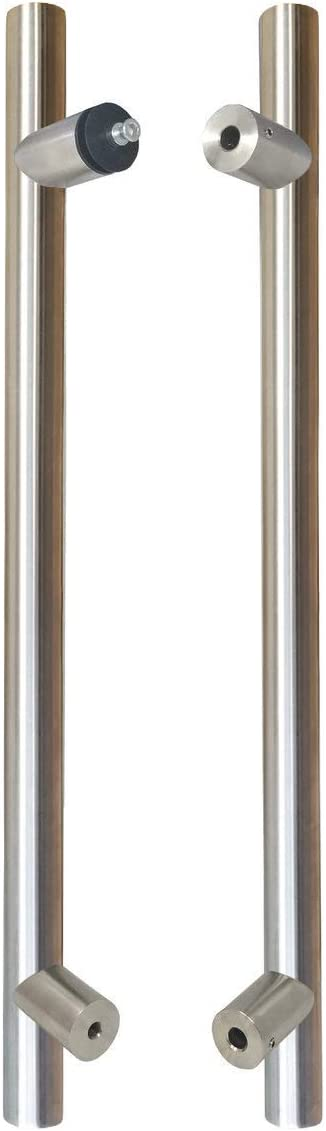 316 Exterior Commercial Grade Stainless Steel Alloy // 60 Total Handle Length STRONGAR Pro-Line Series: Ladder Style Pull Handle Brushed Satin US32D//630 Finish Back-to-Back