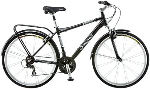 Schwinn Discover Men's Hybrid Bike (700C Wheels),Black